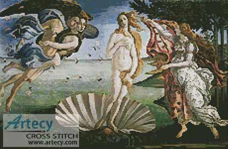 The Birth of Venus - Cross Stitch Chart
