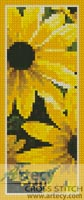 Black-eyed Susan Bookmark - Cross Stitch Chart