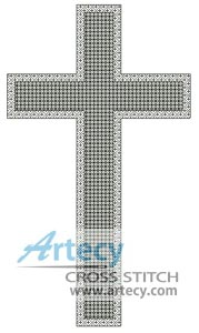 Blackwork Cross - Cross Stitch Chart