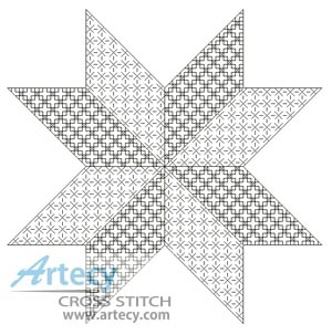Blackwork Star - Cross Stitch Chart