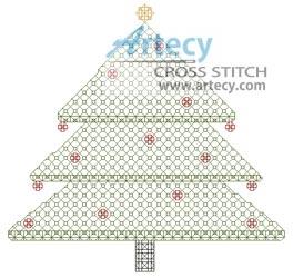 Blackwork Christmas Tree - Cross Stitch Chart