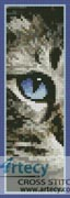 Blue Eye Bookmark - Cross Stitch Chart