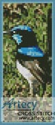 Blue Wren Bookmark - Cross Stitch Chart