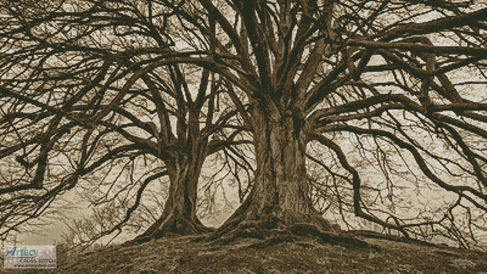 Branching Out (Sepia) - Cross Stitch Chart