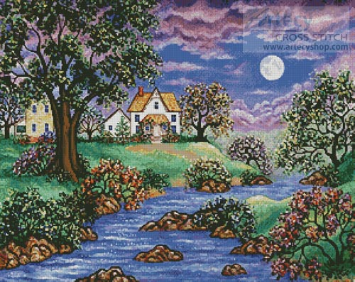 Brookside Cottage - Cross Stitch Chart