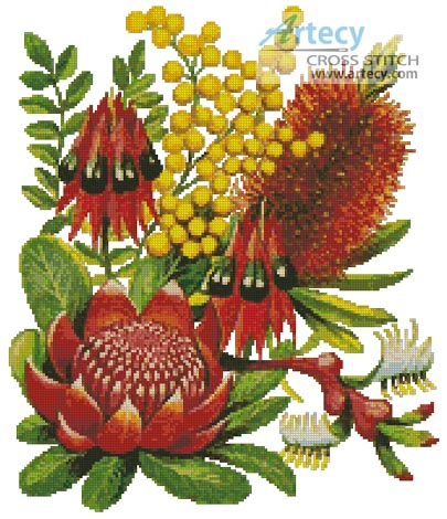 Bushland Flowers of Oz - Cross Stitch Chart