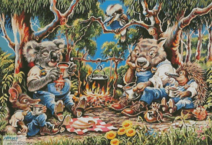 Bush Smoko - Cross Stitch Chart