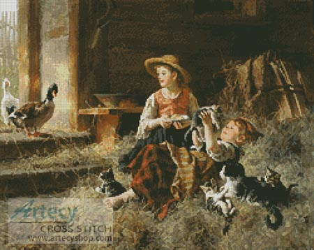 Calling on Farmyard Friends - Cross Stitch Chart