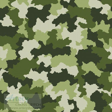 Camouflage Cushion - Cross Stitch Chart
