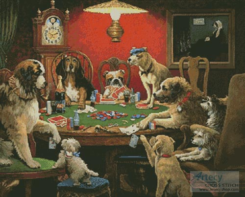 Cards and Dogs - Cross Stitch Chart
