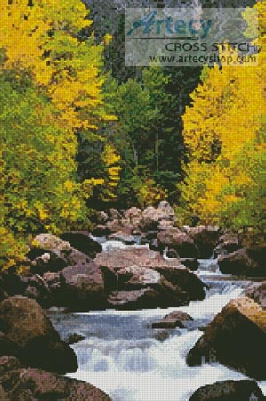 Carson River - Cross Stitch Chart