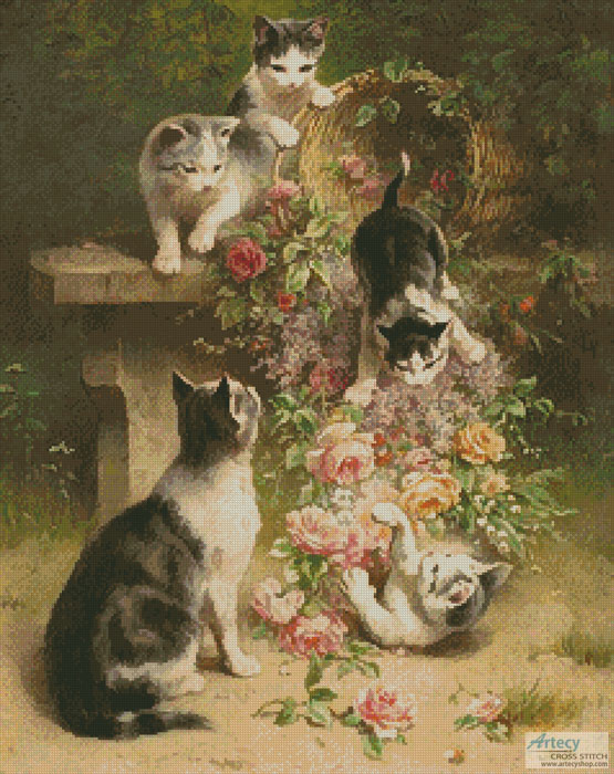 Cats and Flowers - Cross Stitch Chart