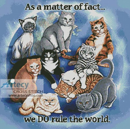 Cats Rule - Cross Stitch Chart