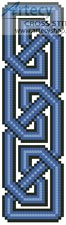 Celtic Bookmark 9 - Cross Stitch Chart