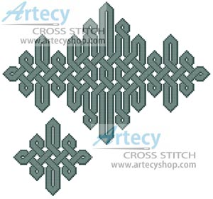 Celtic Centrepiece and Napkin 1 - Cross Stitch Chart