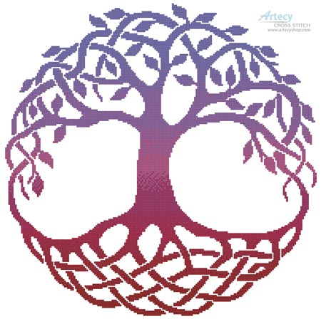 Celtic Tree of Life 2 - Cross Stitch Chart