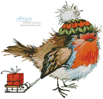Christmas Bird - Cross Stitch Chart