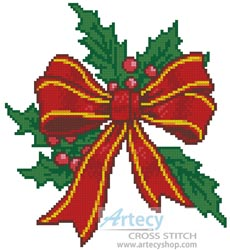 Christmas Bow - Cross Stitch Chart