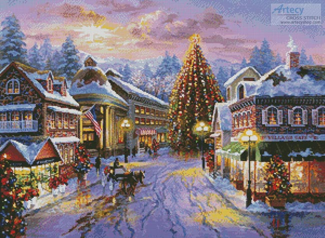 Christmas Eve in the Village - Cross Stitch Chart