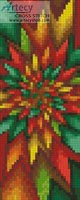 Christmas Fractal Bookmark - Cross Stitch Chart