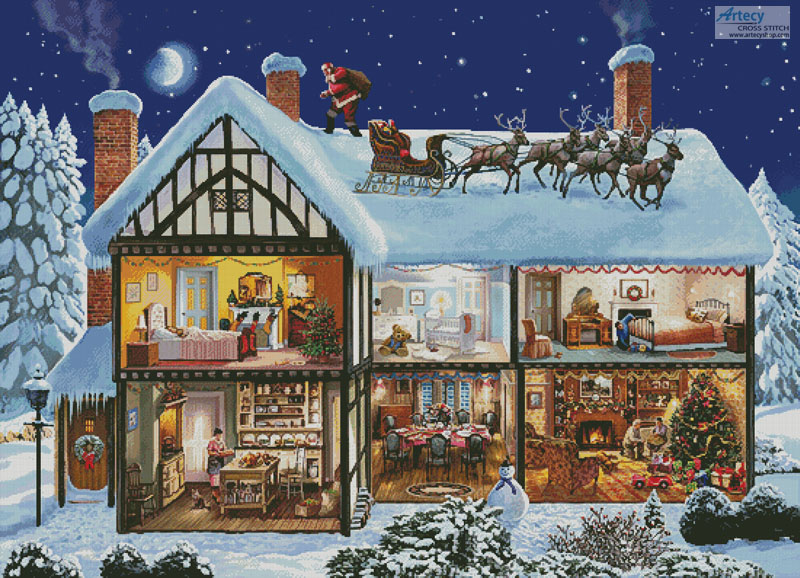Christmas House 1 (Large) - Cross Stitch Chart