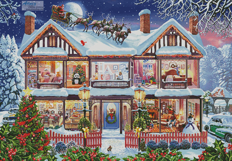 Christmas House 2 (Large) - Cross Stitch Chart