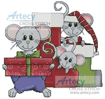 Christmas Mice - Cross Stitch Chart