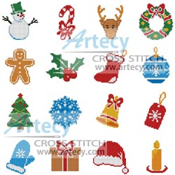 Christmas Motifs 8 - Cross Stitch Chart