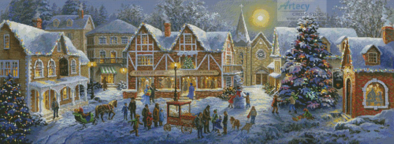 Christmas Village - Cross Stitch Chart