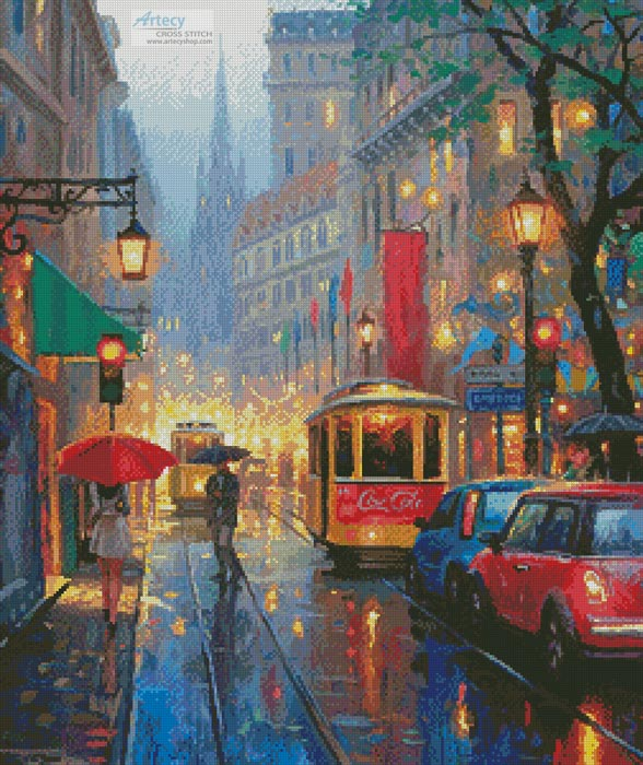 City Lights - Cross Stitch Chart