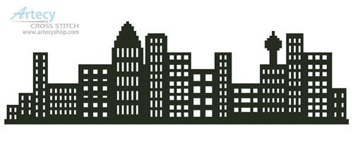 City Skyline - Cross Stitch Chart