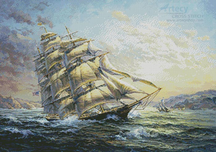 Clipper Ship Surprise - Cross Stitch Chart