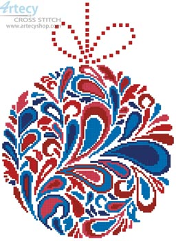 Colourful Christmas Bauble 1 - Cross Stitch Chart