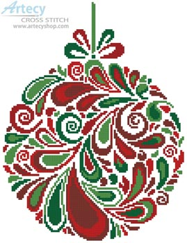 Colourful Christmas Bauble 5 - Cross Stitch Chart
