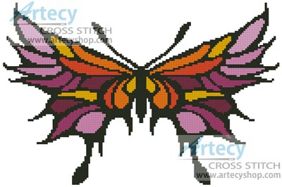 Colourful Wings - Cross Stitch Chart