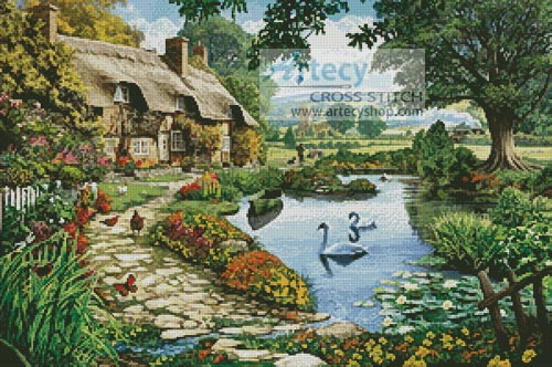 Cottage by the Lake - Cross Stitch Chart