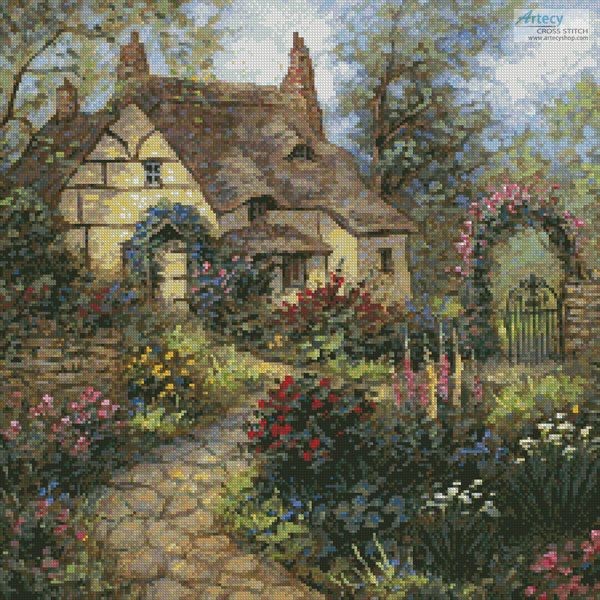 Cottage Garden (Crop) - Cross Stitch Chart