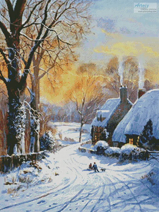 Cottages and Sledgers - Cross Stitch Chart