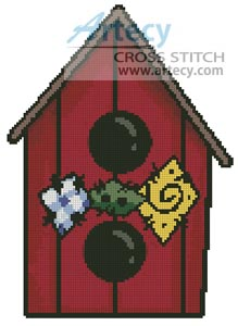 Country Birdhouse - Cross Stitch Chart