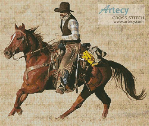 Cowboy 2 - Cross Stitch Chart