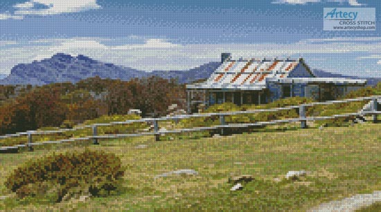 Craig's Hut 1 (Crop) - Cross Stitch Chart