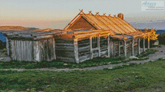 Craig's Hut 2 (Crop) - Cross Stitch Chart
