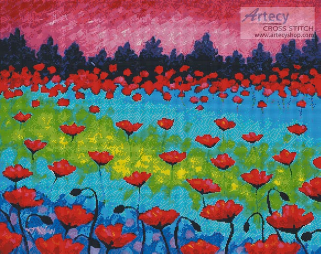 Dancing Poppies - Cross Stitch Chart