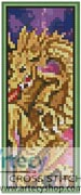 Dragon Battle Bookmark - Cross Stitch Chart