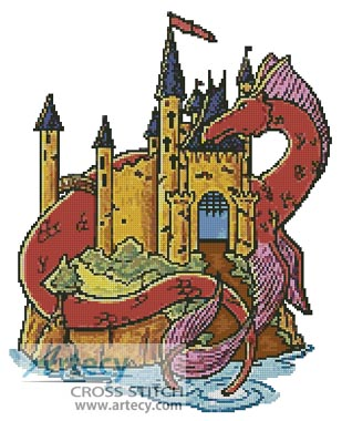 Dragon Castle - Cross Stitch Chart