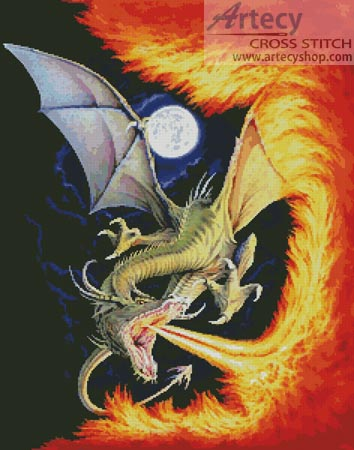 Dragon Fire - Cross Stitch Chart