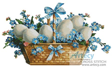 Easter Basket - Cross Stitch Chart