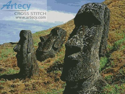 Easter Island - Cross Stitch Chart