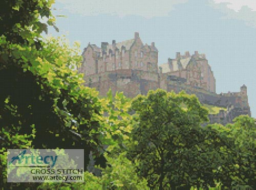 Edinburgh Castle Photo - Cross Stitch Chart