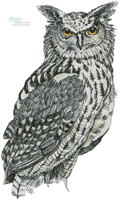 Eurasian Eagle Owl - Cross Stitch Chart